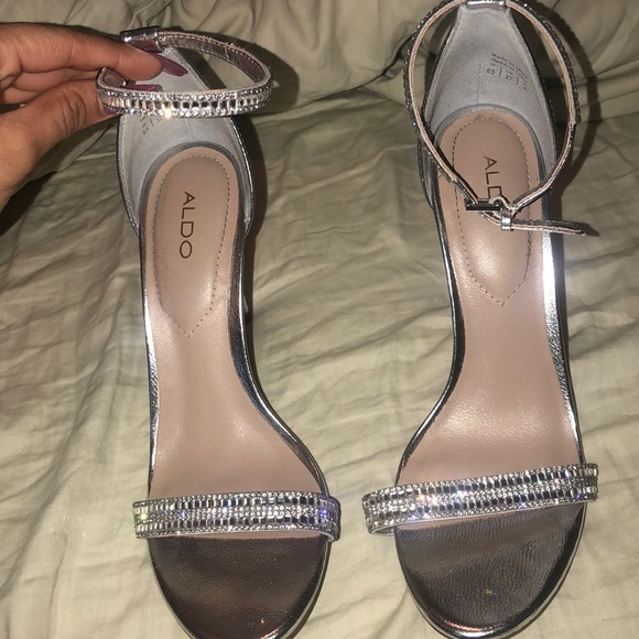 Aldo Shoes | Aldo Silver Sparkly Heels